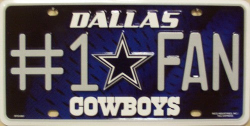 Cowboys #1 Fan Metal License Plate - Hawkins Footwear and Sports  - 1