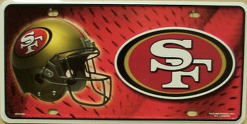 San Francisco 49ers Metal License Plate - Hawkins Footwear and Sports