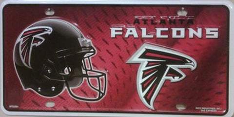 Atlanta Falcons Metal License Plate - Hawkins Footwear and Sports