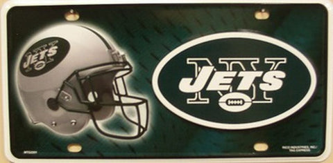 New York Jets Metal License Plate - Hawkins Footwear and Sports