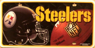 Pittsburg Steelers Metal License Plate - Hawkins Footwear and Sports  - 1