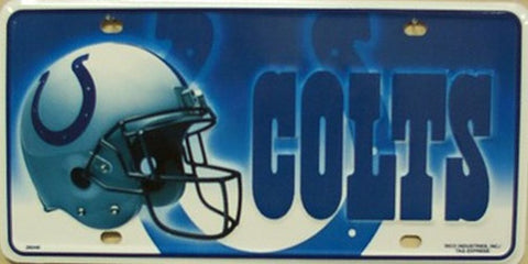 Indianapolis Colts Metal License Plate - Hawkins Footwear and Sports