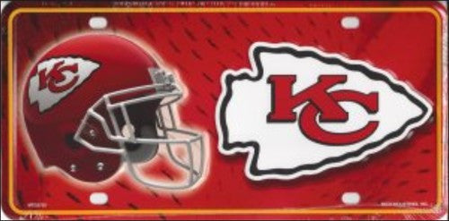 Kansas City Chiefs Metal License Plate - Hawkins Footwear and Sports