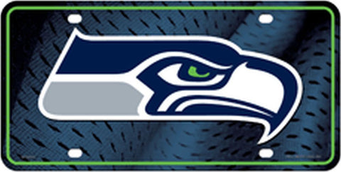 Seattle Seahawks Metal License Plate - Hawkins Footwear and Sports