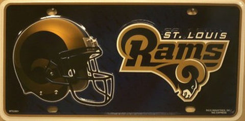 St Louis Rams Metal License Plate - Hawkins Footwear and Sports