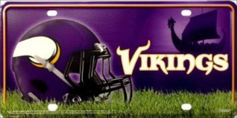 Minnesota Vikings Metal License Plate - Hawkins Footwear and Sports