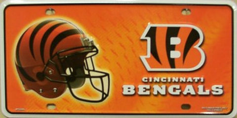 Cincinnati Bengals Metal License Plate - Hawkins Footwear and Sports