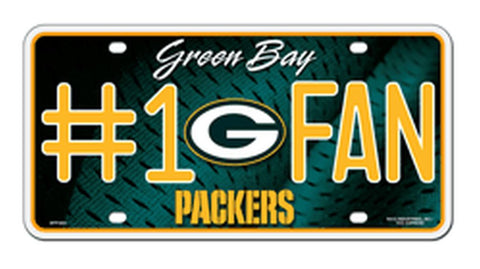 Packers #1 Fan Metal License Plate