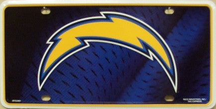 San Diego Chargers Metal License Plate - Hawkins Footwear and Sports