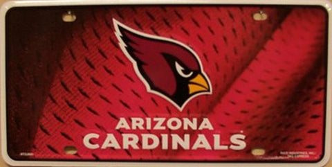 Arizona Cardinals Metal License Plate - Hawkins Footwear and Sports  - 1