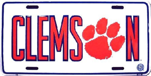 Clemson Tigers Metal License Plate - Hawkins Footwear and Sports  - 1