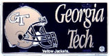 Georgia Tech Metal License Plate - Hawkins Footwear and Sports  - 1