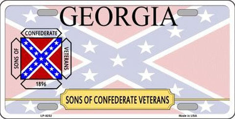 Georgia Sons Of Confederate License Plate - Hawkins Footwear and Sports  - 1
