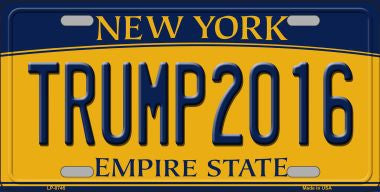 Trump2016 New York State Metal License Plate (SOLD OUT)