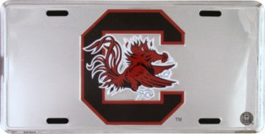 South Carolina Gamecocks Metal License Plate