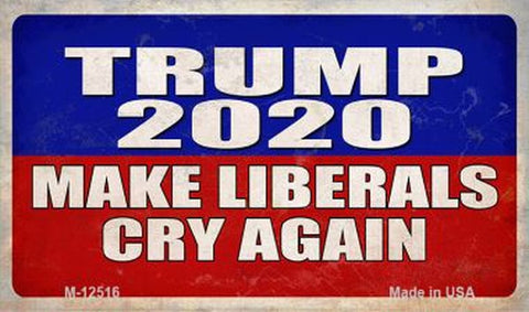 Trump 2020 Make Libs Cry Again Magnet