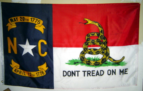 NC/Gadsden Don't Tread on me 3'x5' Poly Flag
