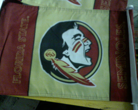 "FLORIDA STATE UNIVERSITY CAR FLAG 11"" X 18"""
