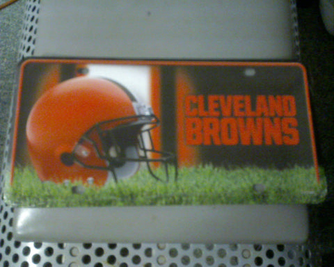 Cleveland Browns Metal License Plate - Hawkins Footwear and Sports