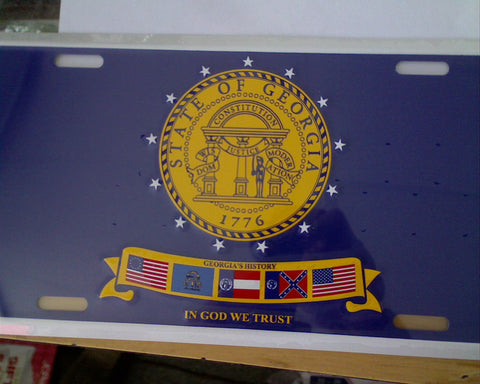Georgia State Seal License Plate