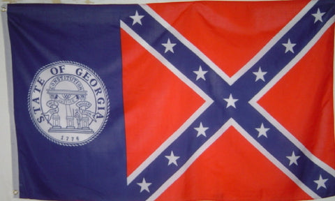 Real OLD GA Flag 3' X 5' - Hawkins Footwear and Sports