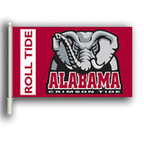 "Alabama Crimson Tide 11"" X 18"" 2 Sided Car Flag - Hawkins Footwear and Sports  - 1"