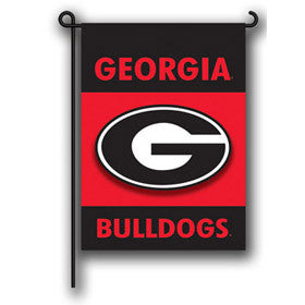 Georgia Bulldog Garden Flag - Hawkins Footwear and Sports
