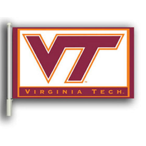 "Virginia Tech 11"" X 18"" 2 Sided Car Flag - Hawkins Footwear and Sports  - 1"