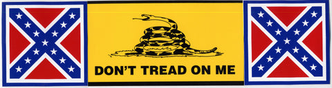 Bumper Sticker Gadsden/Rebel Combo