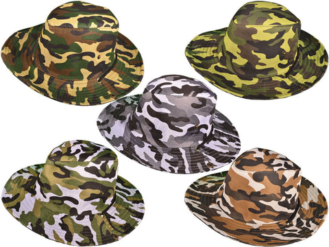BK Caps Camo Aussie Hunting & Fishing Safari Hats (Assorted)