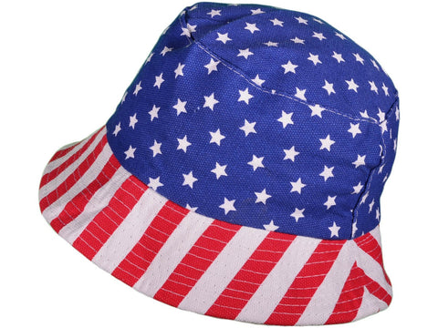 American Flag Bucket Caps Hats