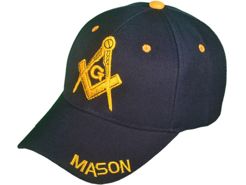 "Embroidered ""Mason"" Masonic Baseball Caps"