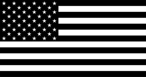 Black and White American Flag 3x5
