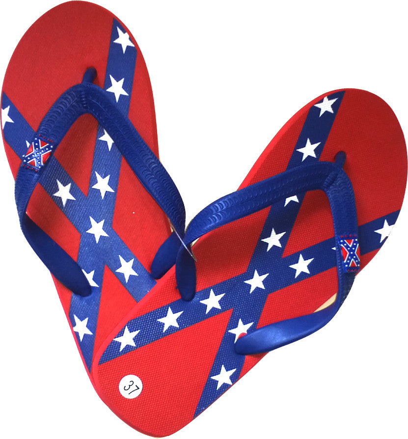Youth / Woman Confederate Flip Flops - Hawkins Footwear and Sports