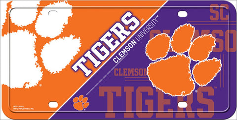 Clemson Tigers License Plate
