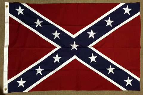 3' X 5' Sewn Cotton Battle Flag - Hawkins Footwear and Sports  - 1