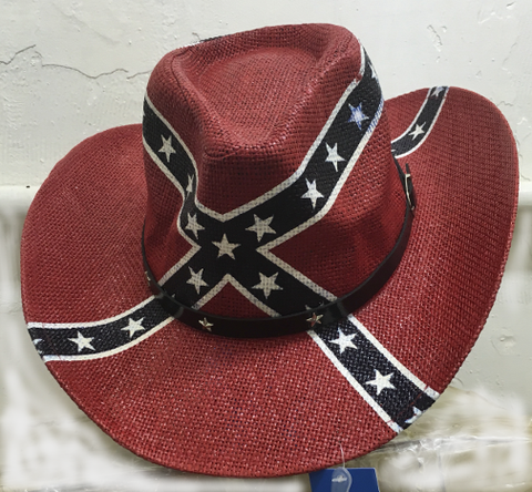 Rebel Battle Flag Cowboy Hat