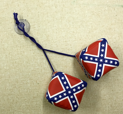 Rear View Mirror Battle Flag Dice