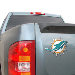 Miami Dolphins Colored Aluminum Car Auto Emblem