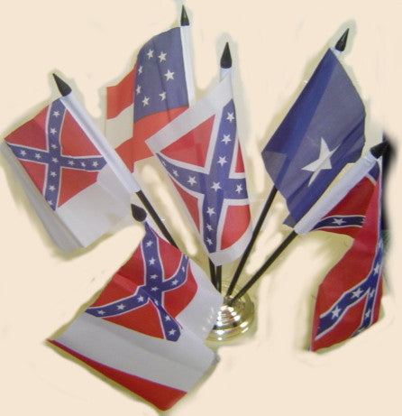 6 Pc Confederate Desk Set