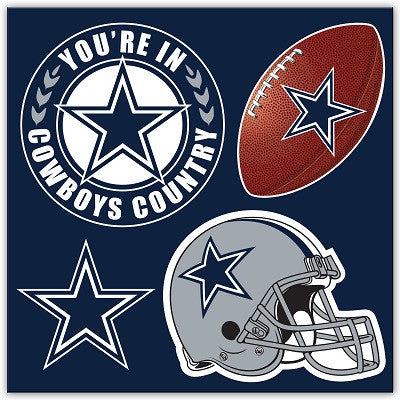 Dallas Cowboys 4 Piece Magnet Set
