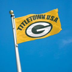 Green Bay Packers Flag - Team 3' X 5' - Hawkins Footwear and Sports  - 2