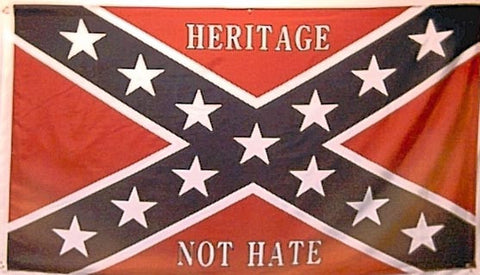 Heritage Not Hate on Battle Flag 3' X 5'