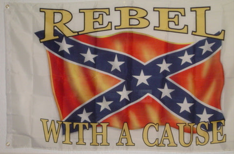 Rebel With A Cause  3'x5' Flag
