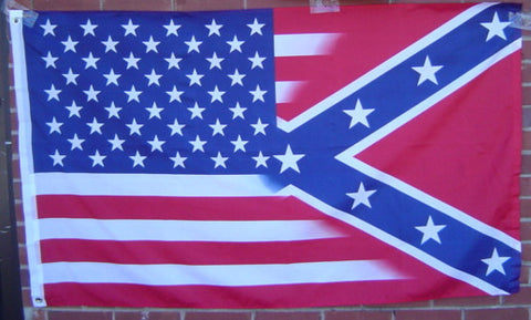 US/Rebel Combo Poly  Flag 3' X 5'