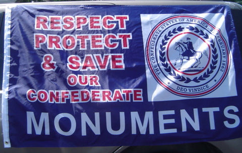 Respect, Protect, & Save Monuments  3' X 5' Flag