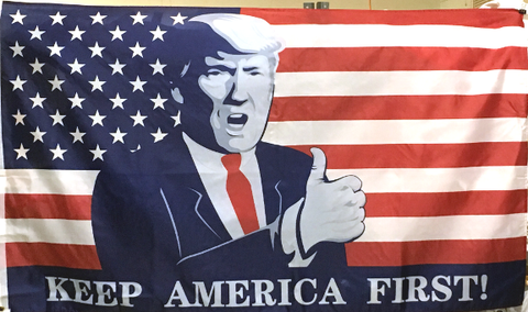 Trump USA Keep America First  Poly 3'x5' Flag