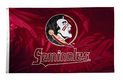 Florida State 2-sided Nylon Applique 3 Ft x 5 Ft Flag w/ grommets