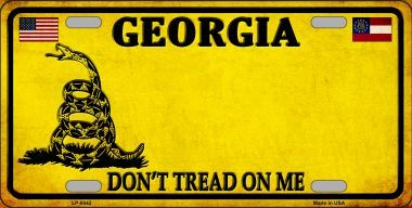 Georgia Don't Tread On Me Metal License Plate