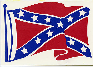 "4"" x 4.5"" Battle Wavy Flag Sticker"